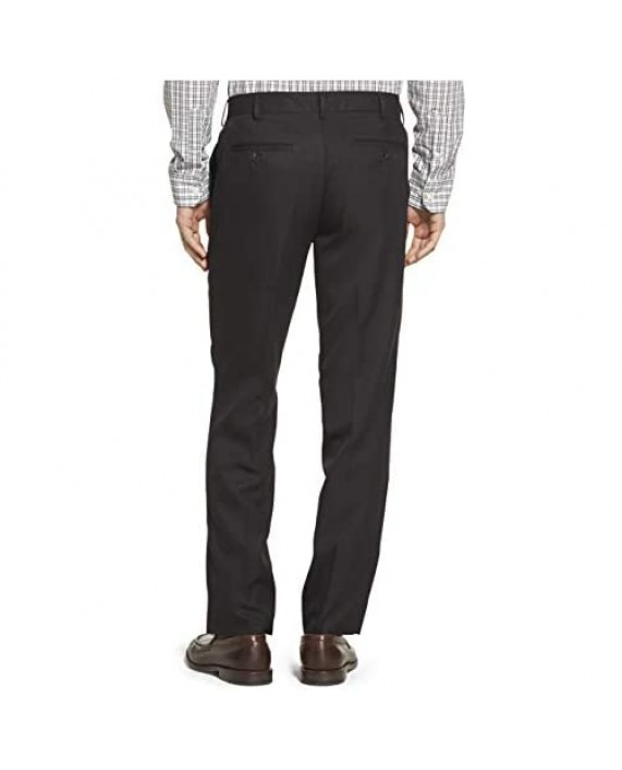 Arrow Men's Flat Front Straight Fit Solid Twill Micro Dress Pant