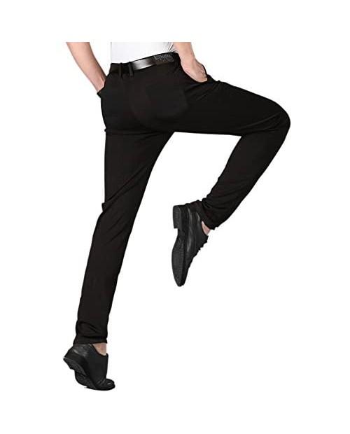 ETHANOL Mens Comfort Tech Stretch Slim Performance Wrinkle Resistant Dress Cargo Pants