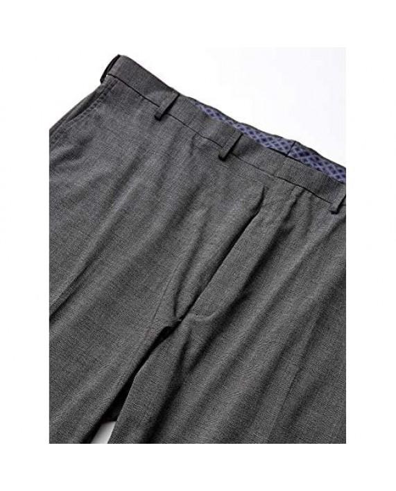 Haggar Men's J.m Big and Tall Sharkskin Plaid Classic Dress Pant