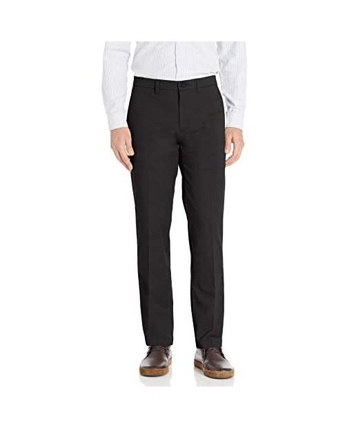 Haggar Men's Premium Comfort Khaki Flat Front Straight Fit Pant