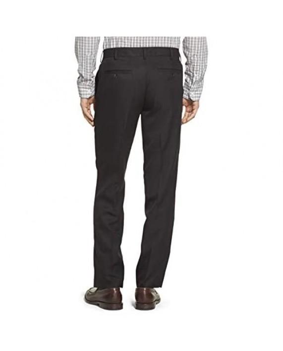 IZOD Men's Flat Front Straight Fit Solid Dress Pant