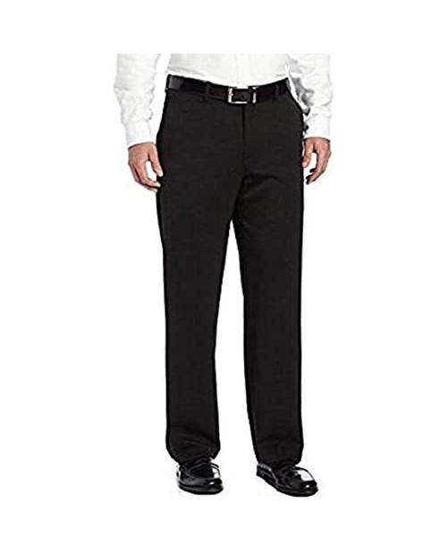 IZOD Mens Performance Stretch Straight Dress Pants (Black 34W x 30L)