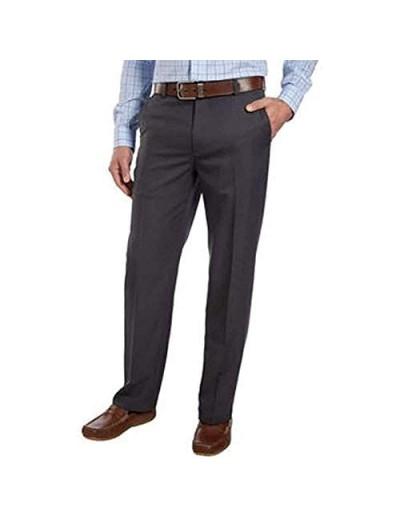IZOD Mens Performance Stretch Straight Dress Pants (Dark Grey 34W x 30L)