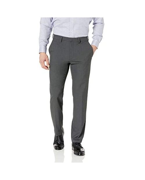 J.M. Haggar Men's 4-Way Stretch Solid Gab Straight Slim Fit Suit Separate Pant