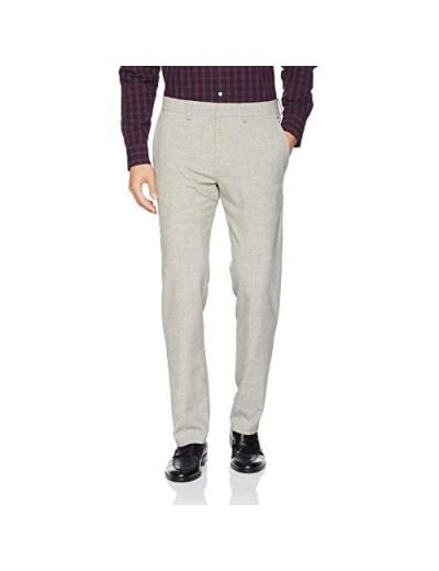 Kenneth Cole REACTION Men's Stretch Faux Flannel Slim Fit Flat Front Dress Pant