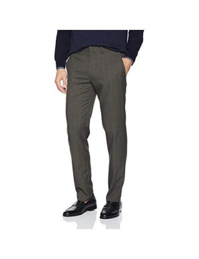 Kenneth Cole REACTION Men's Stretch Windowpane Grid Slim Fit Dress Pant