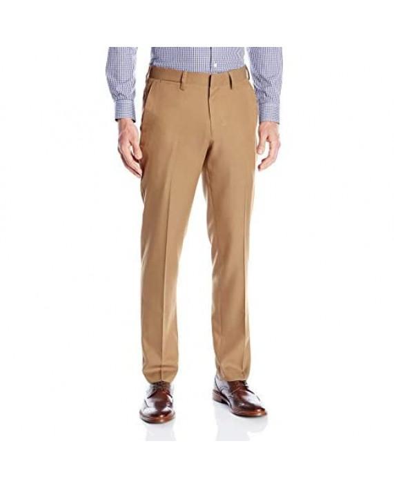 Louis Raphael Men's Slim Fit Flat Front Micro Touch Dress Pant