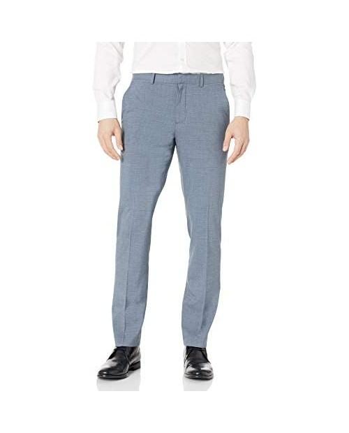 Perry Ellis Men's Slim Fit Non-Iron Windowpane Stretch Dress Pant