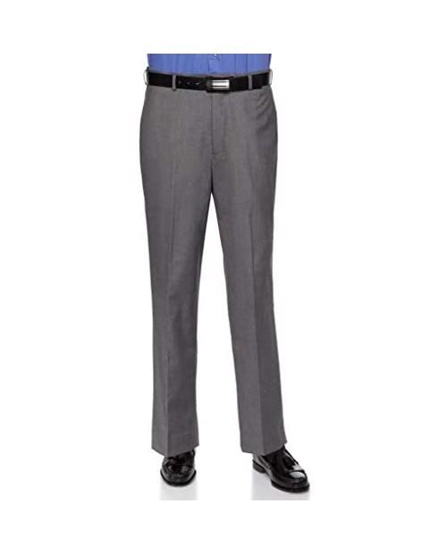 RGM Mens Slim fit Dress Pants Flat-Front - Modern Formal Business Wrinkle Free No Iron