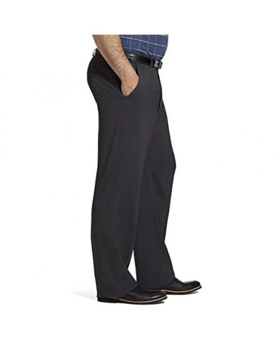 Van Heusen Men's Big and Tall Traveler Stretch Flat Front Dress Pant Charcoal 40W X 36L