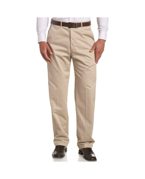 Haggar Men's Big and Tall Work to Weekend Hidden Expandable Waist Plain Front Pant