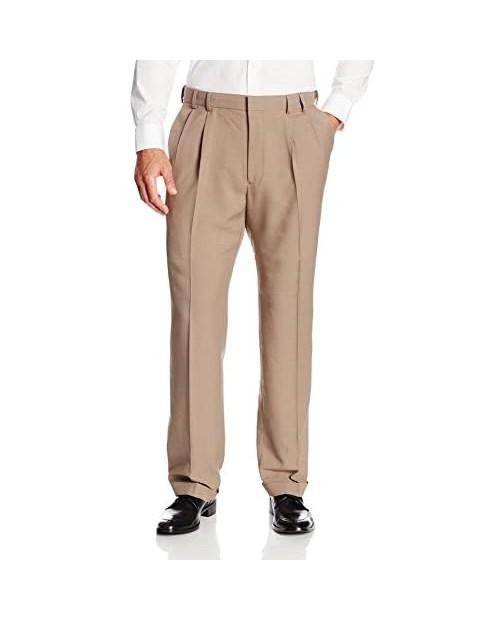 Van Heusen Men's Big & Tall Cuffed Crosshatch Pant Chestnut 60W x 32L