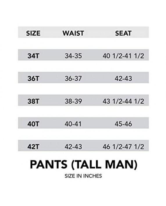 Van Heusen Men's Big & Tall Cuffed Crosshatch Pant Grey 44W x 34L
