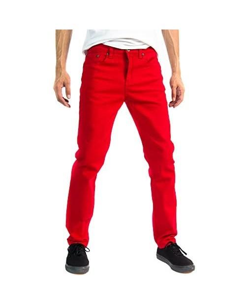 Alta Designer Fashion Mens Slim Fit Skinny Denim Jeans - Multiple Colors & Sizes