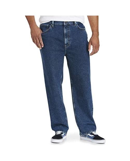 Essentials Men's Big & Tall Loose Stretch Jean Fit by DXL
