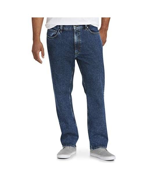 Essentials Men's Big & Tall Straight Stretch Jean Fit by DXL