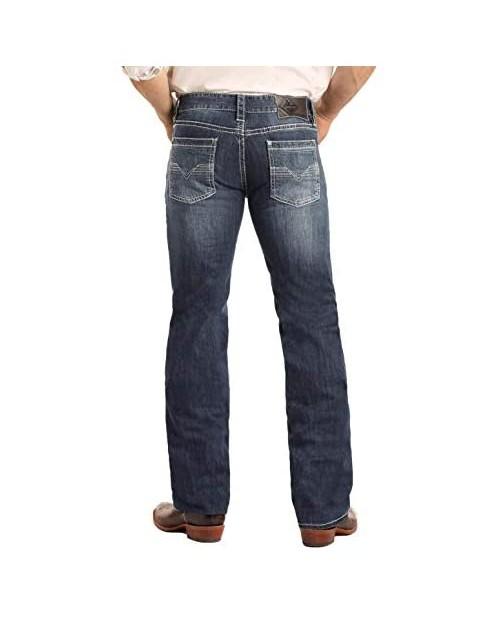 Rock & Roll Cowboy Men's and Reflex Pistol Straight Leg Jeans - M1p3473