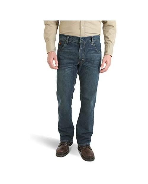 Wrangler Riggs Workwear Men's FR Flame Resistant Retro Advanced Comfort Slim Fit Boot Cut Jean