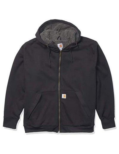Carhartt Men's Big & Tall RD Rockland Sherpa Lined Hooded Sweatshirt Black 3X-Large
