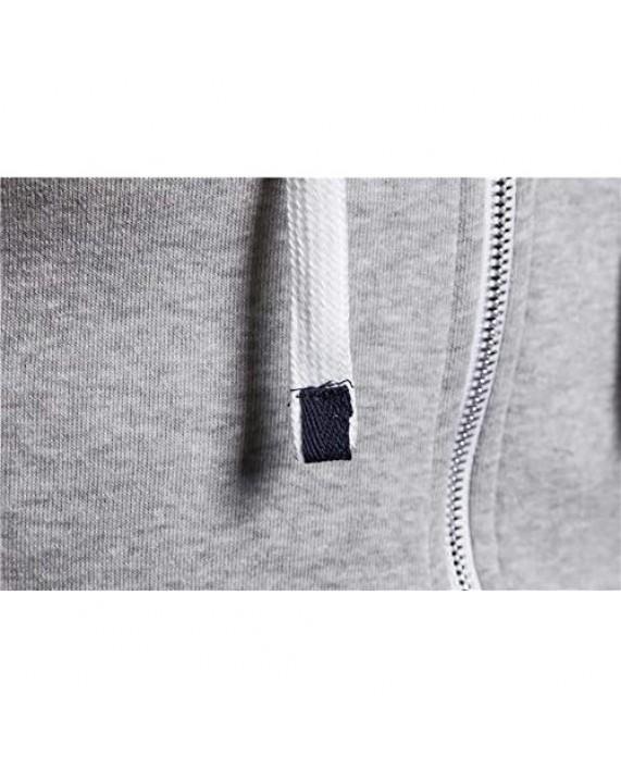 FASKUNOIE Men's Fashion Hoodies Sweatshirts Lightweight Jersey Jacket Sport Fitness Sweatshirt with Kanga Pockets