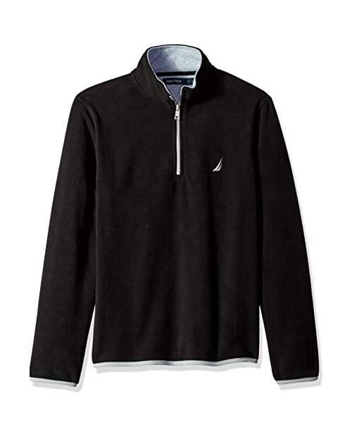 Nautica Men's Polar Fleece 1/4 Zip Back Neck Logo Sweatshirt