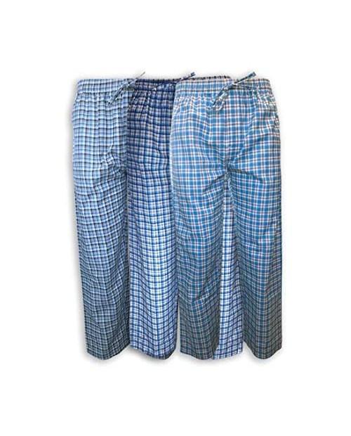 AMERICAN HEAVEN Men's 3 Pack Lounge Pajama Sleep Pants/Drawstring & Pockets Designer Woven Pant Bottoms