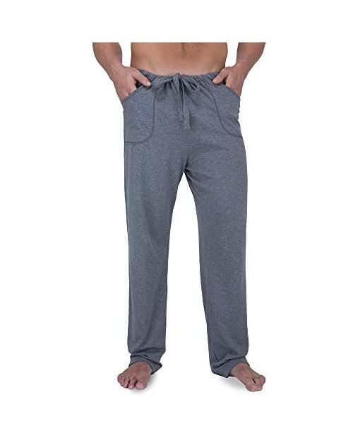 Cottonique Men's Latex-Free Drawstring Lounge Pants Made from 100% Organic Cotton (Melange)