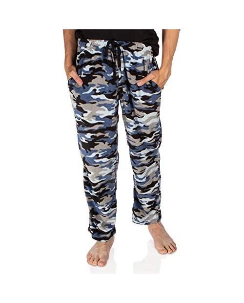 DG Hill Plaid Pajama Pants for Men Fleece Lounge Pants Men with Pockets and Drawstring