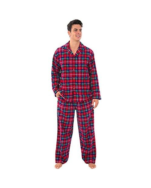 Alexander Del Rossa His and Hers Lightweight Flannel Pajamas Long Button Down Cotton Pj Set