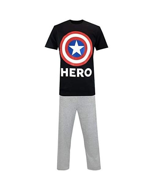 Marvel Mens Captain America Pajamas