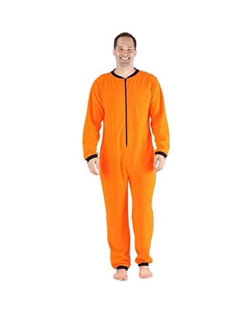 Sleepyheads Men's Fleece Non-Footed Solid Color Onesie Pajamas Jumpsuit