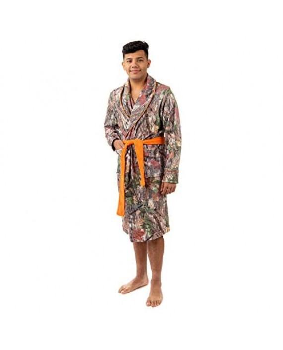Camo Fleece Bathrobe Plush House Robe - with Shawl Collar for Men and Women