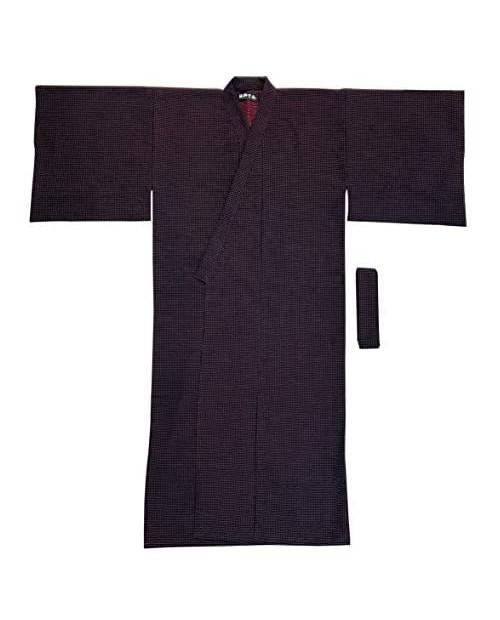 [Edoen] Japan YUKATA Kimonoquilted Sashiko Men'S FREE