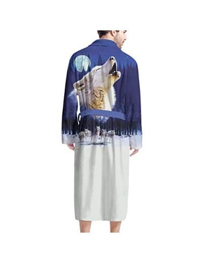 HUGS IDEA Ultra Soft Bathrobe for Adult Men Boys Long Sleeve Warm Plush Microfiber Thick Robes with Pockets