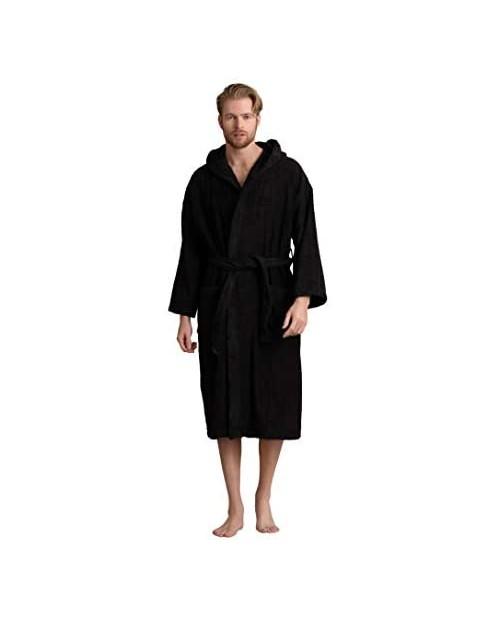 Men's Hooded Bathrobe Premium Turkish Cotton Cloth Comfortable Absorbent Terry Bath Robe