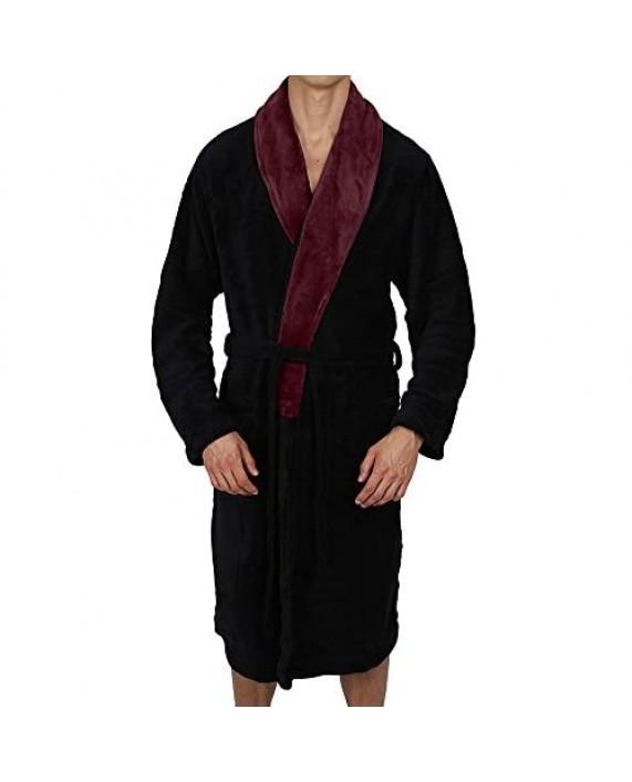 Regency New York Luxurious Men's & Womens Hooded Robe & Shawl Collar Soft Fleece Bathrobe Spa Robe