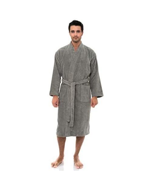 TowelSelections Men's Robe Fleece Cotton Terry-Lined Water Absorbent Bathrobe