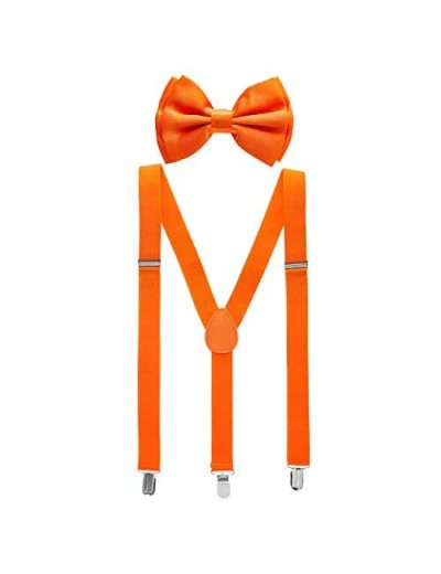Bowtie and Suspenders for Men - Y Shape Suspender and Bow Tie - Many Colors to Choose From