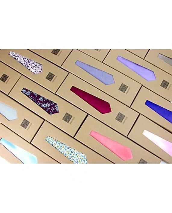 Spring Notion Men's Solid Color Satin Microfiber Tie and Handkerchief Set