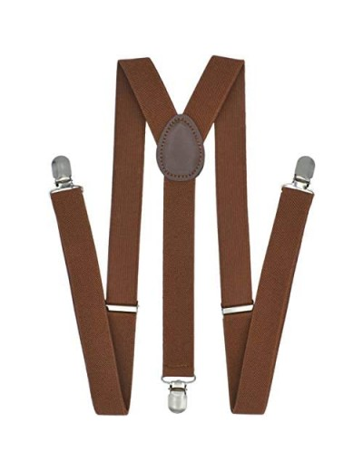 Trilece Suspenders for Men - Adjustable Size Elastic 1 inch Wide Y Shape Suspender for Women with Strong Clips