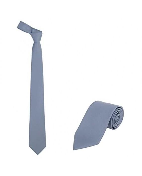"""JNJSTELLA Men's Classic Solid Color Necktie 3.15"""" Tie"""