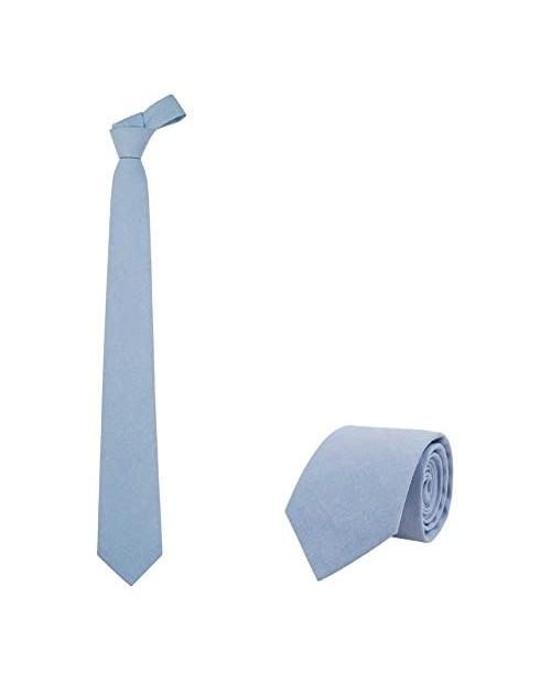 """JNJSTELLA Men's Cotton Solid Necktie 3.15"""" Tie"""