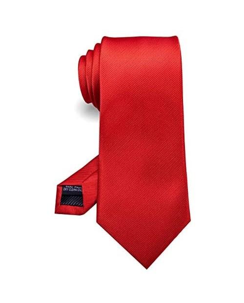 RBOCOTT Solid Color Tie Formal Necktie for Men
