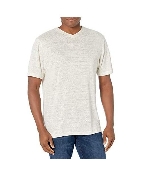 Cubavera Men's Short Sleeve Linen V-Neck Shirt