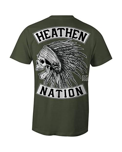 Heathen Military Green Chief T-Shirt
