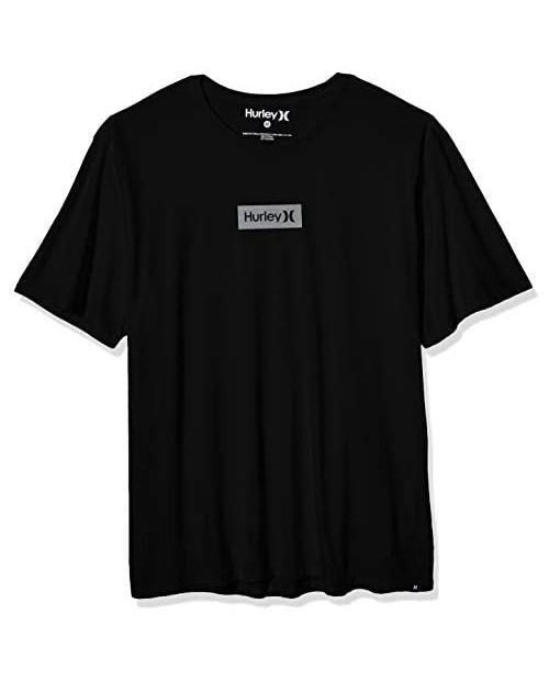 Hurley Men's Dri-fit Box Logo Short Sleeve Tshirt
