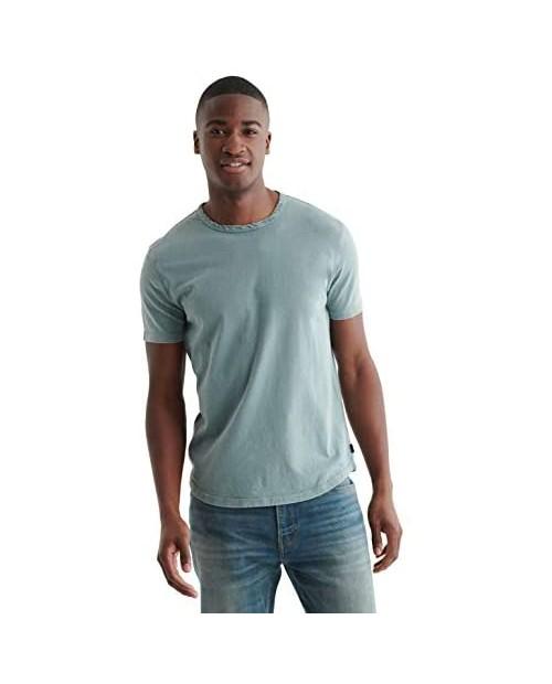 Lucky Brand Men's Short Sleeve Crew Neck Curved Hem Tee Shirt