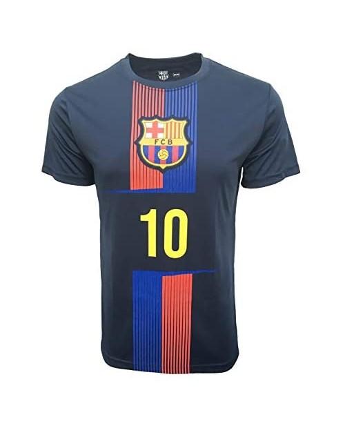 """Official FC Barcelona Men's Messi 10"""" Crew Neck Short Sleeve Tee"""