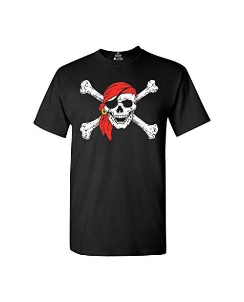 shop4ever Pirate Skull & Crossbones T-Shirt Pirate Flag Shirts