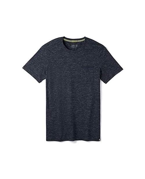 Smartwool Men's Everyday Exploration Pocket T-Shirt Regular Fit Sparrow Heather Small